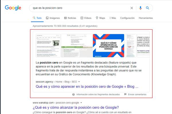 La posición 0 en Google • La posición 0 en Google