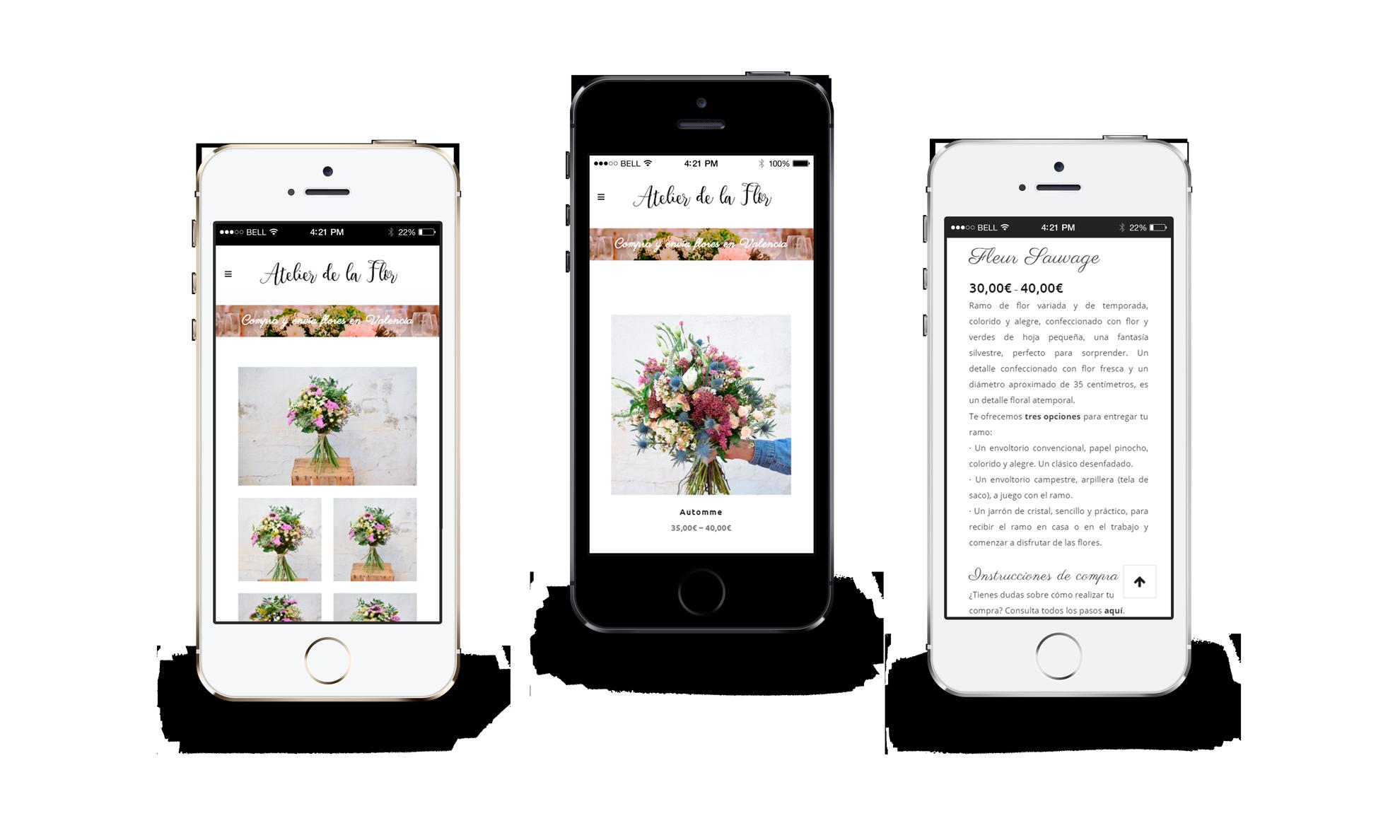 tienda online • Atelier de la flor