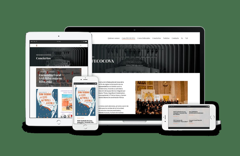 web federación • Federación de coros de la CV