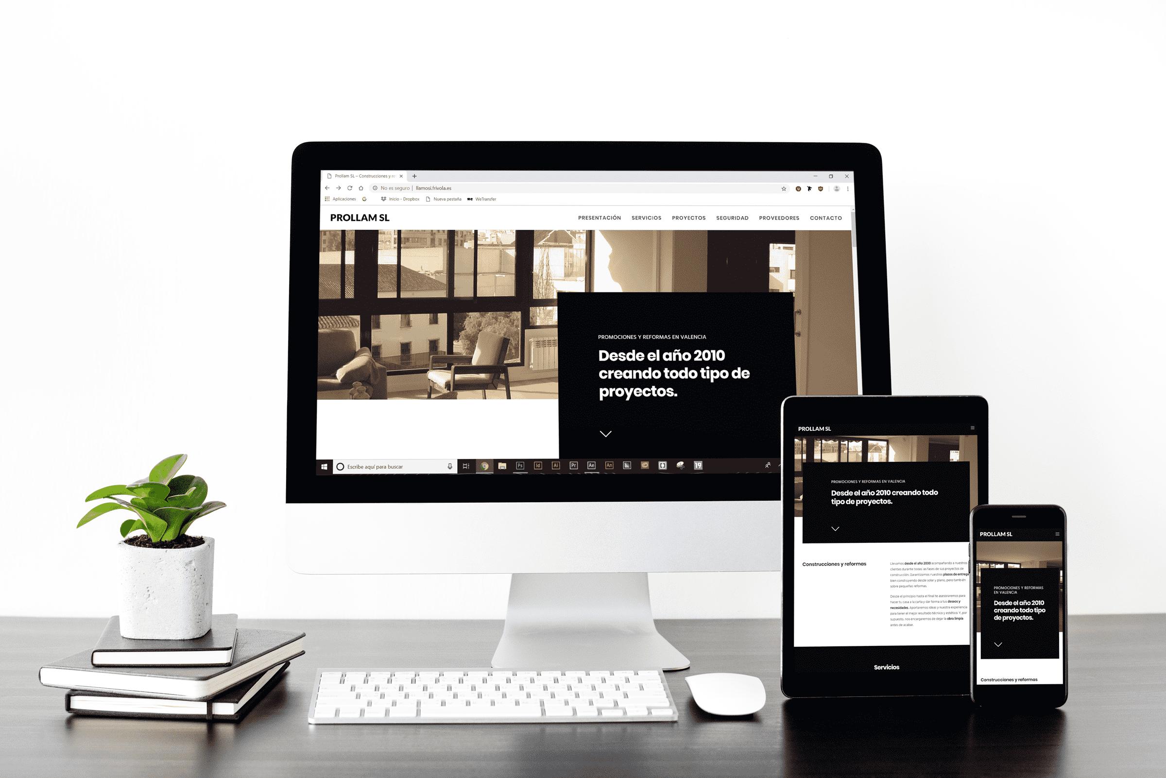 web construcción • Prollam