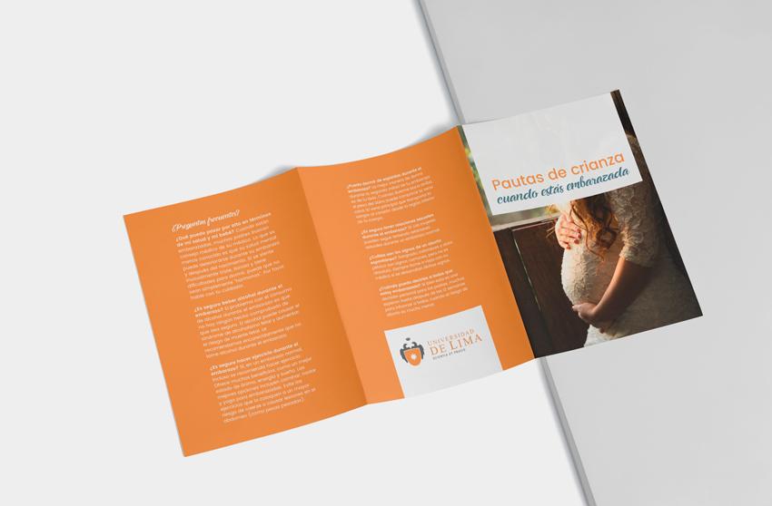 diseño folletos • Universidad de Lima
