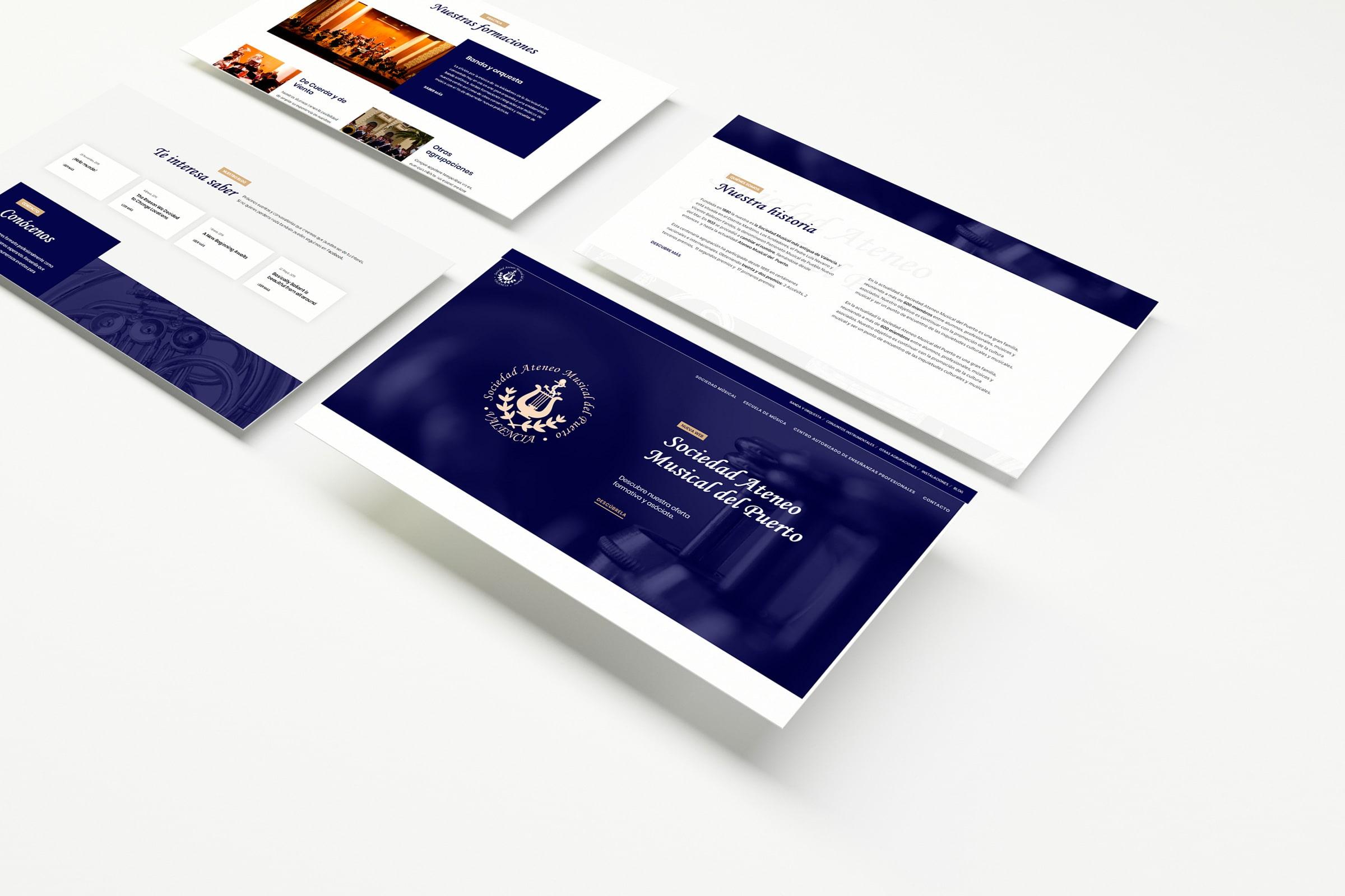 Web asociación • Sociedad Ateneo Musical del Puerto
