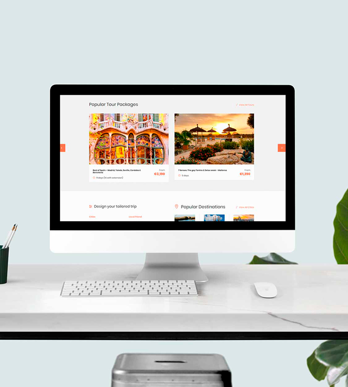 reserva online de viajes • Spain Seven Degrees