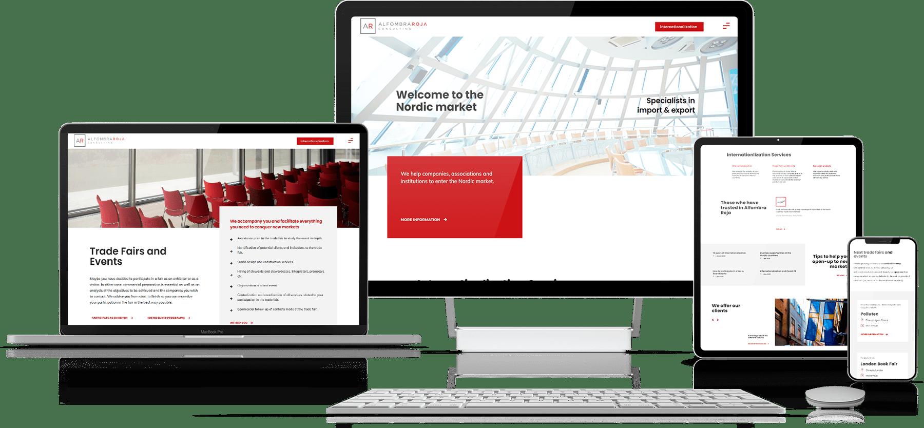 diseño web para empresa de consultoría • Alfombra Roja