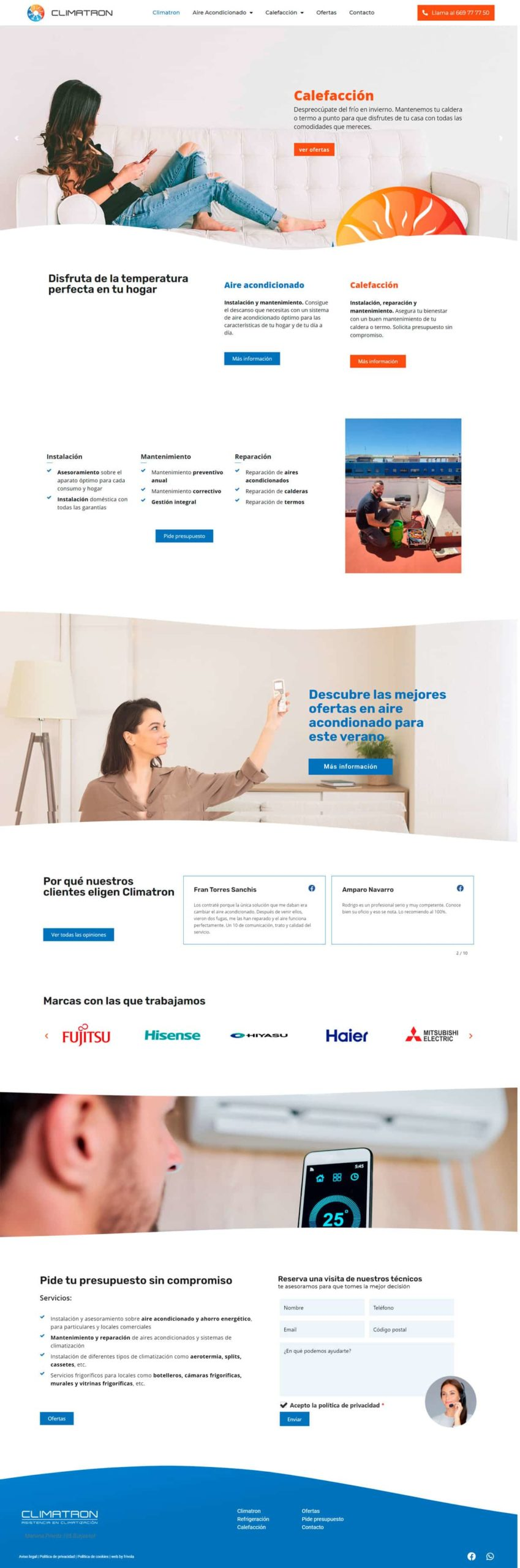 diseño web • Climatron