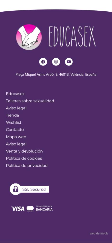 diseño web • Educasex