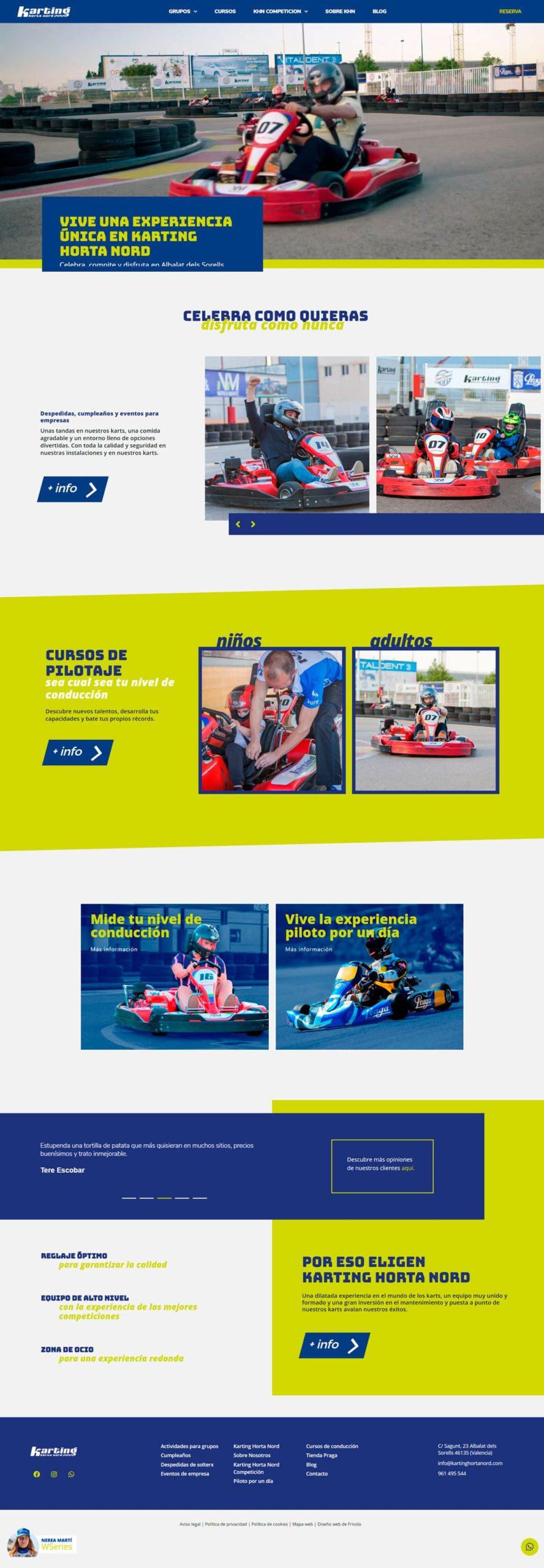 Diseño web karting • Karting Horta Nord