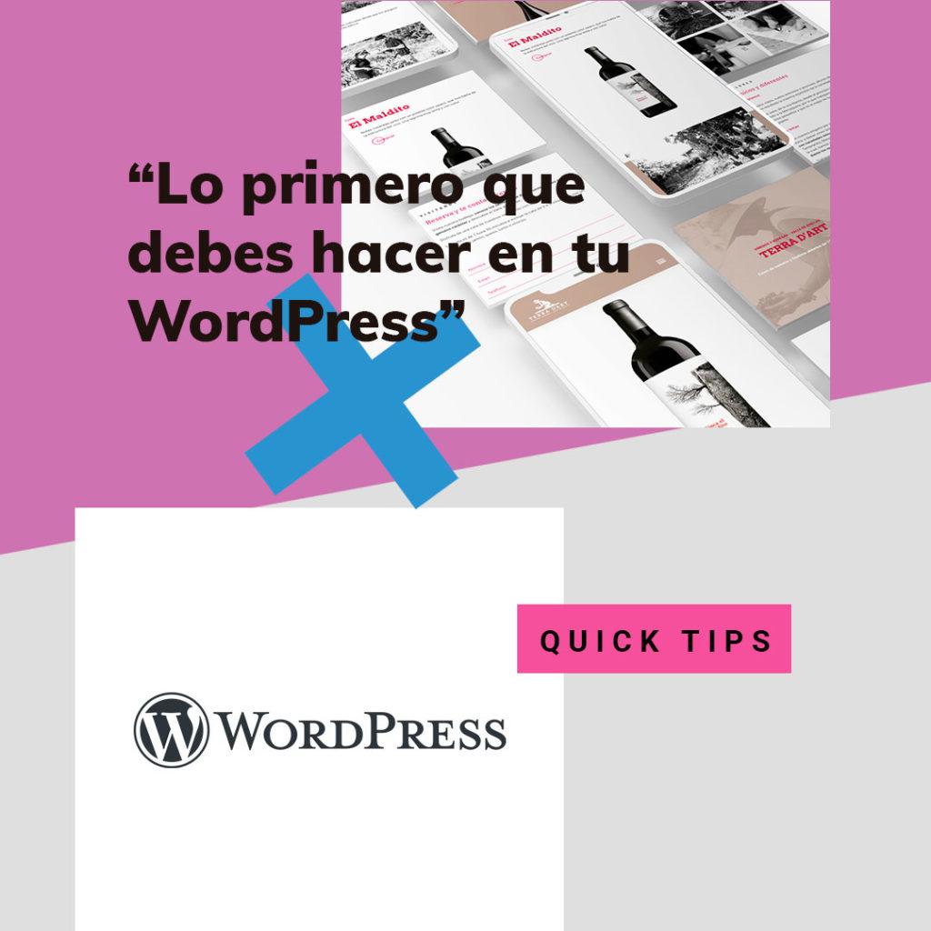 wordpress • Lo primero que debes hacer una vez instales tu WordPress