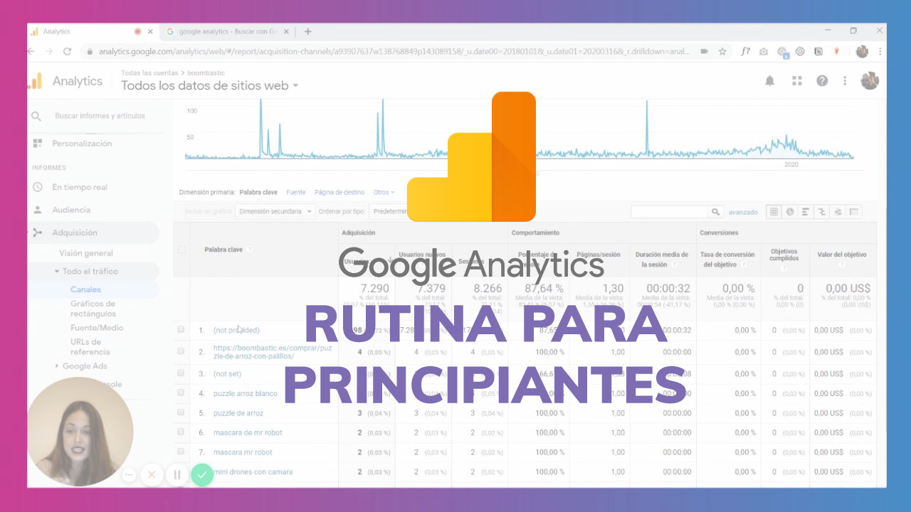 Rutina rápida de Google Analytics