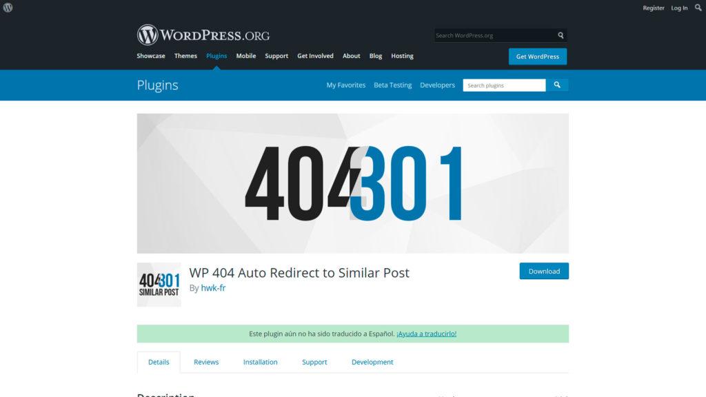 Hacer redirecciones • Hacer redirecciones y evitar los errores 404 - WP 404 Auto Redirect to Similar Post
