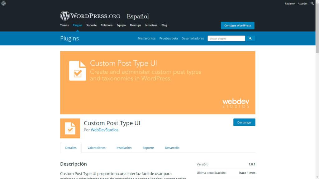 contenidos personalizados • Crear contenidos personalizados - Custom Post Type UI