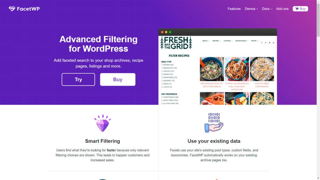 filtrar y buscar • Filtrar y buscar entre tus contenidos - FacetWP